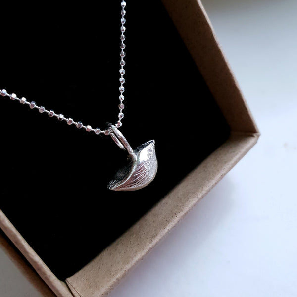 "Handmade ""Tiny Little"" Silver Bird Charm Necklace. Bird Charms."