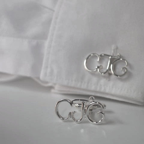 Sterling Silver Hand-forged Bespoke Cufflinks