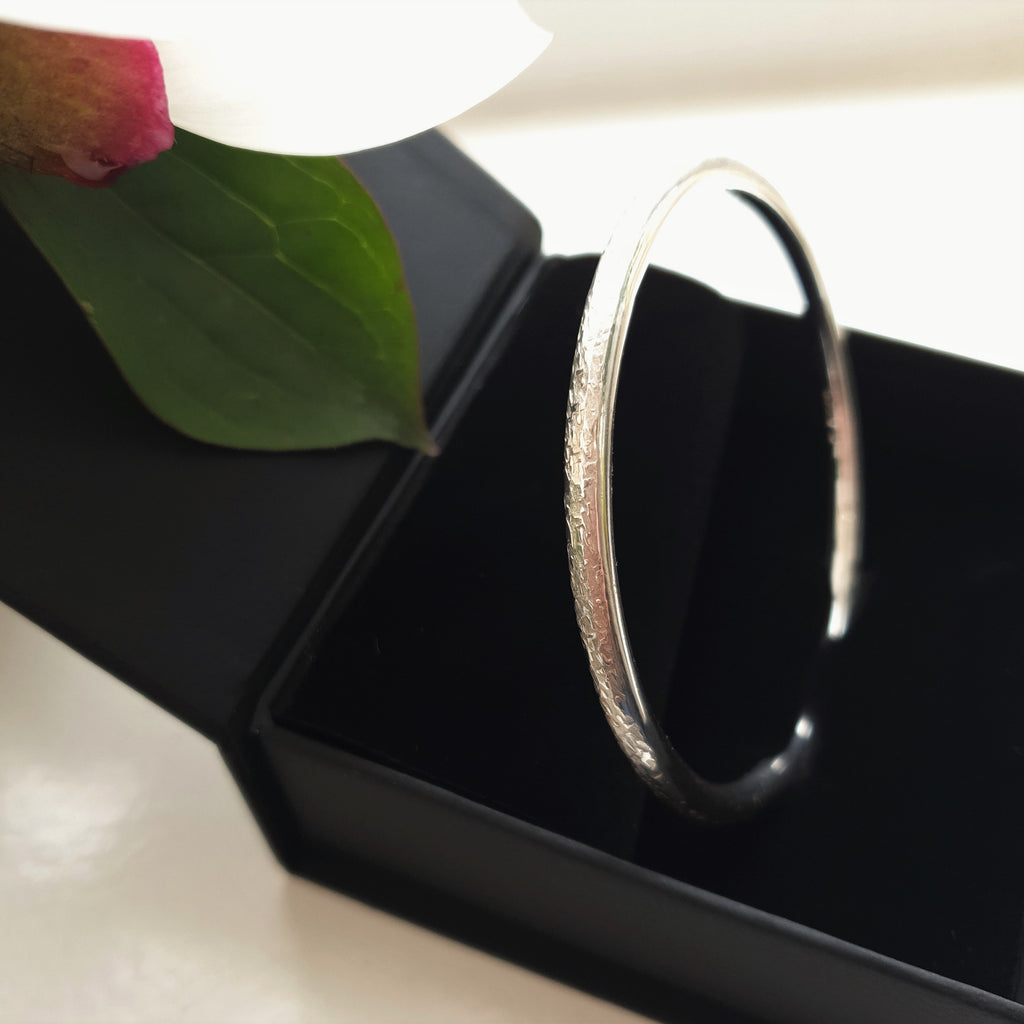 """Classics"" Solid Sterling Silver Bangle"