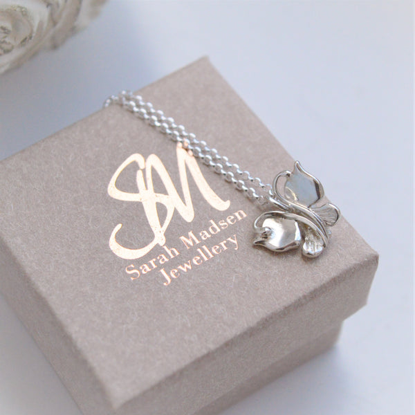 Classic Butterfly Pendant & Chain