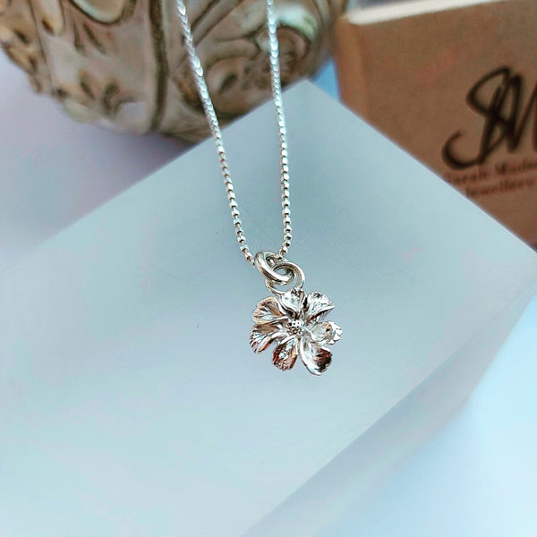 Little Floret Necklace in Sterling Silver