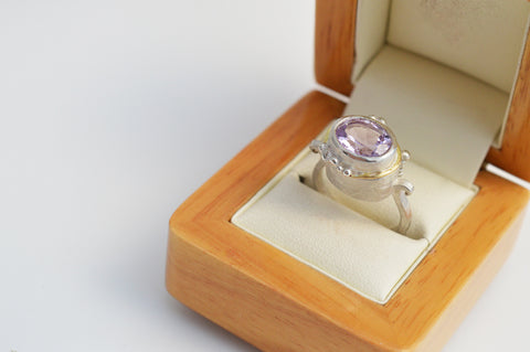 One of a Kind Amethyst Dress Ring