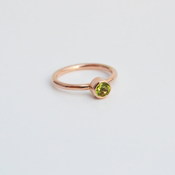 Classics 9ct Rose Gold Ring with Peridot