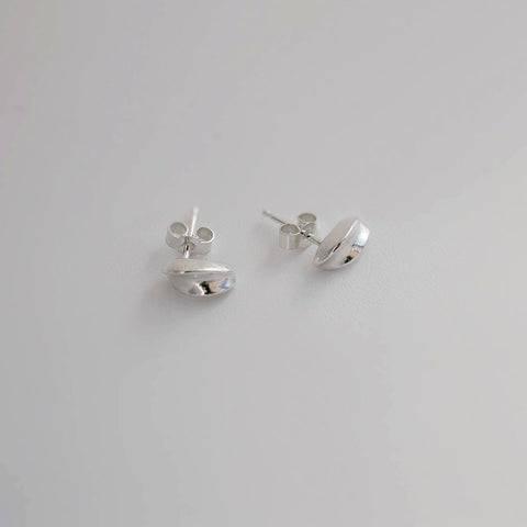 "Silver ""Petal"" Stud Earrings"
