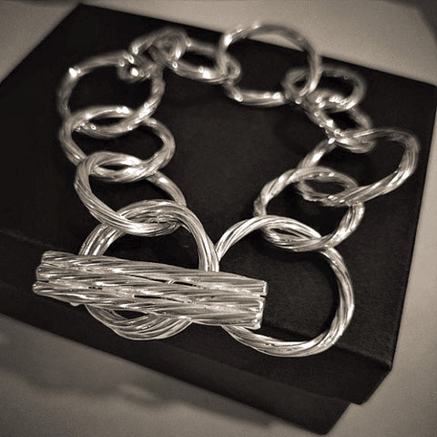 """Twisting Vines"" Sterling Silver Bracelet"