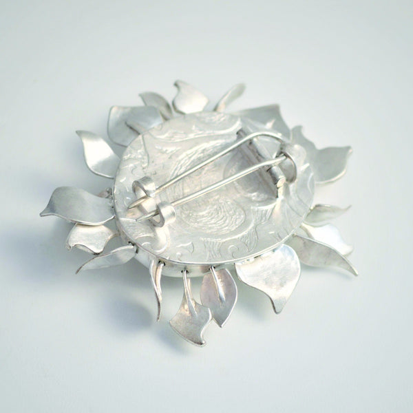White Sapphire Brooch.   Brooches