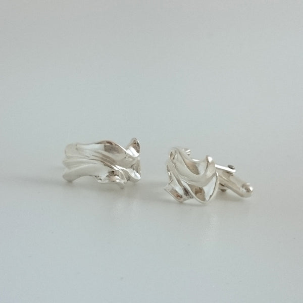 "Solid Sterling Silver ""Floral"" Cufflinks"