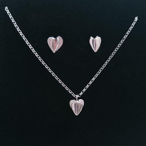 Sweet Hearts Pendant and Earrings Set