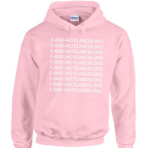 488e1f3c27b 1-800-HOTLINEBLING Pink Hoodie