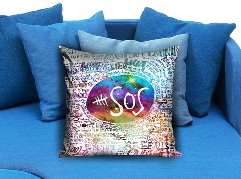 5 Second Of Summer quotes collage Pillow Case