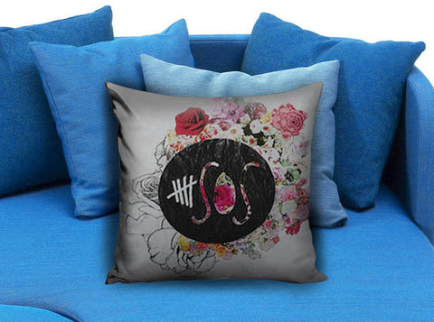 5 Seconds of Summer Flower Logo Pillow case