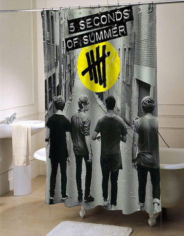 5 second of summer last boys custom shower curtain customized design for home decor