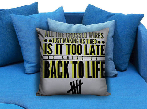 5sos 5Seconds of Summer Back to life Pillow Case
