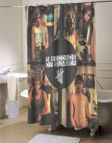 5sos 5 second of summer somewhere new shower curtain customized design for home decor