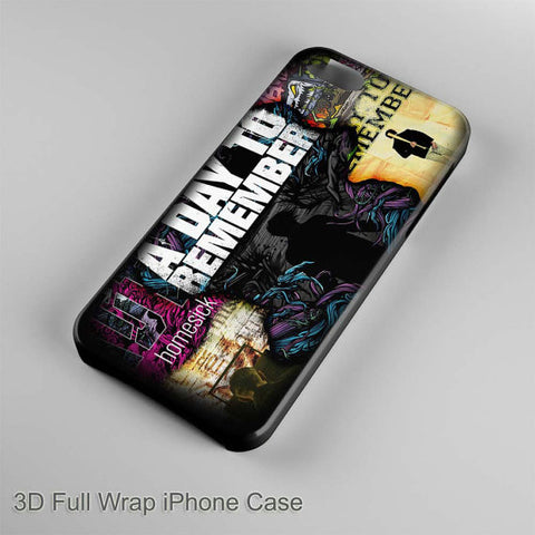 A Day To Remember Collage Tittle 3D Full Wrap Phone case iPhone case Samsung Galaxy Case