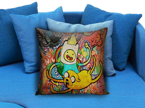Adventure Time Jack And Finn painting art Pillow case