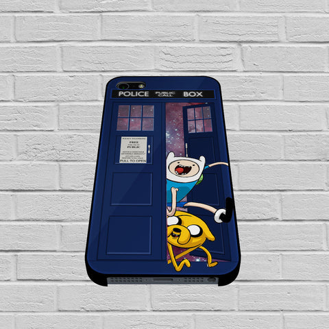 Adventure Time Jake Finn In Dr Who Tardis Call Box Galaxy Nebula case of iPhone case,Samsung Galaxy