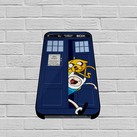 Adventure Time Jake Finn In Dr Who Tardis Call Box case of iPhone case,Samsung Galaxy
