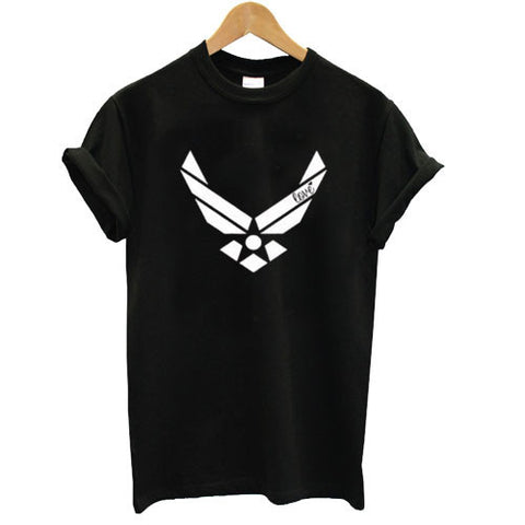 Air force racerback front tshirt