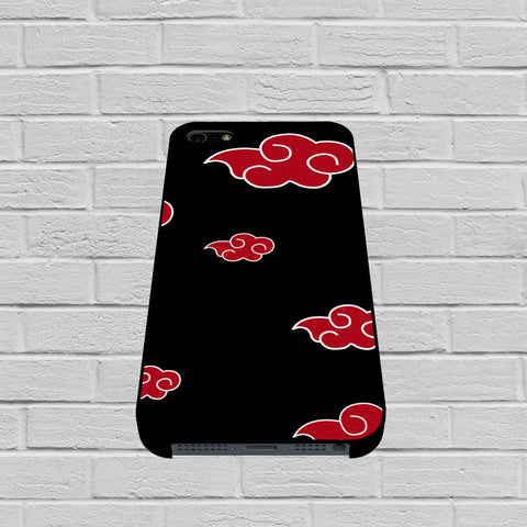 Akatsuki Red Cloud Pattern case of iPhone case,Samsung Galaxy