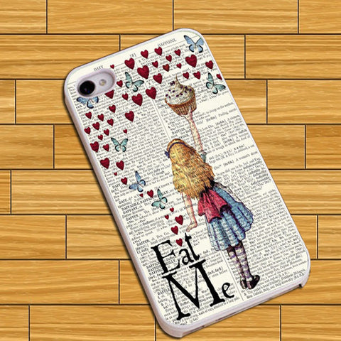 Alice eat me love butterfly Phone case iPhone case Samsung Galaxy Case
