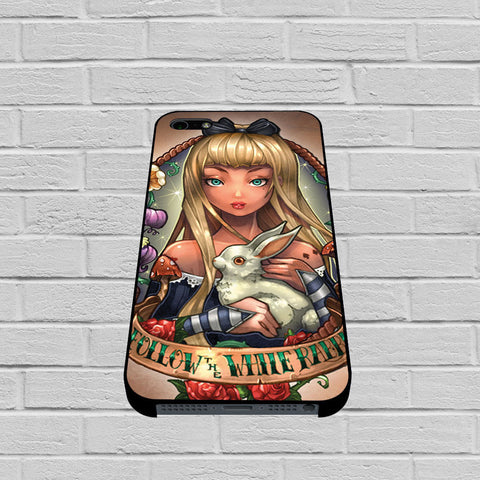 Alice in Wonderland Follow The White Rabbit case of iPhone case,Samsung Galaxy