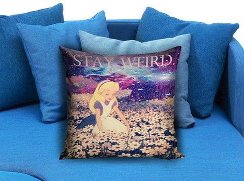 Alice in Wonderland Stay Weird Galaxy Pillow Case