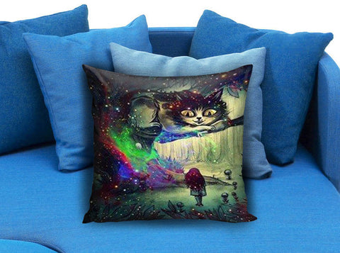 Alice in Wonderland and Cheshire Cat Pillow case