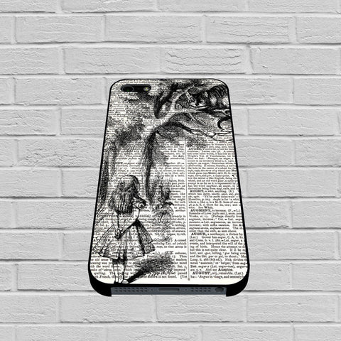 Alice with the Cheshire Cat Art Print on Dictionary case of iPhone case,Samsung Galaxy