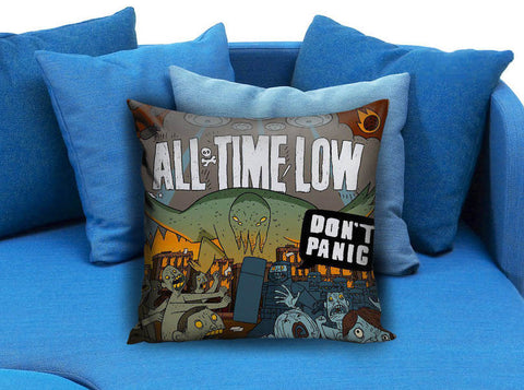 All Time Low Dont Panic All Time Low To Live And Let Go Lyrics Pillow case