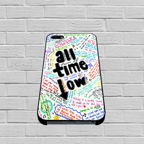 All Time Low Lyric 2 case of iPhone case,Samsung Galaxy