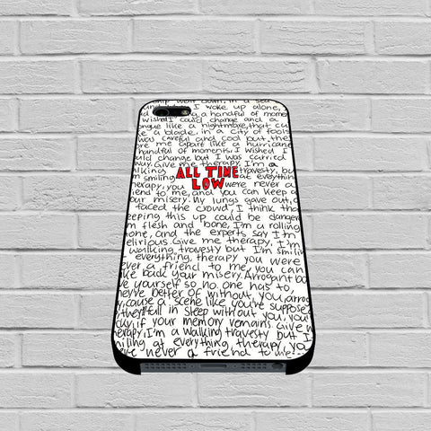 All Time Low Lyric case of iPhone case,Samsung Galaxy