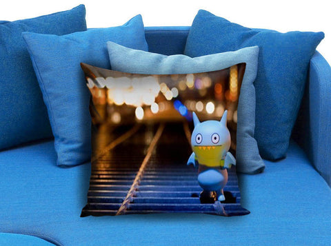 Alone in the street Pillow case