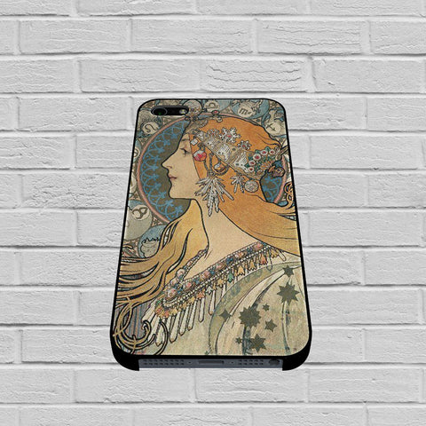 Alphonse Mucha case of iPhone case,Samsung Galaxy
