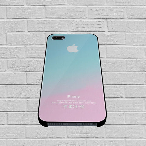 Apple Logo Pink Aqua Teal Pastel case of iPhone case,Samsung Galaxy