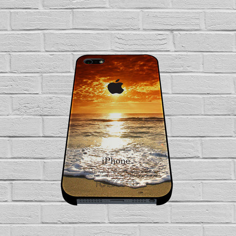 Apple Sunrise Summer Beach case of iPhone case,Samsung Galaxy