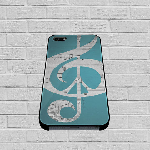 Aqua Music Notes Aqua Blue Turquoise case of iPhone case,Samsung Galaxy