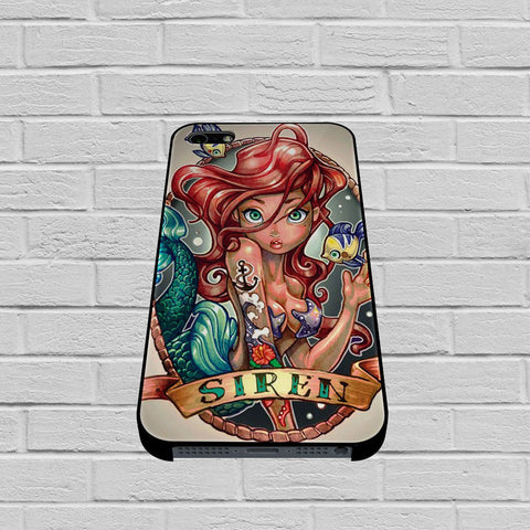 Ariel Little Mermaid Tattoo case of iPhone case,Samsung Galaxy