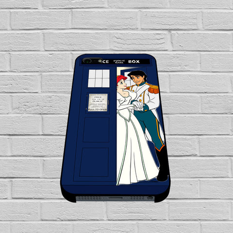 Ariel Mermaid and Eric Wedding in Tardis Dr Who case of iPhone case,Samsung Galaxy