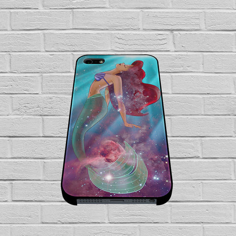 Ariel The Little Mermaid On Galaxy Nebula case of iPhone case,Samsung Galaxy