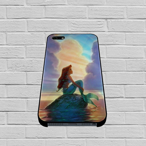 Ariel The Little Mermaid Sunset case1 of iPhone case,Samsung Galaxy
