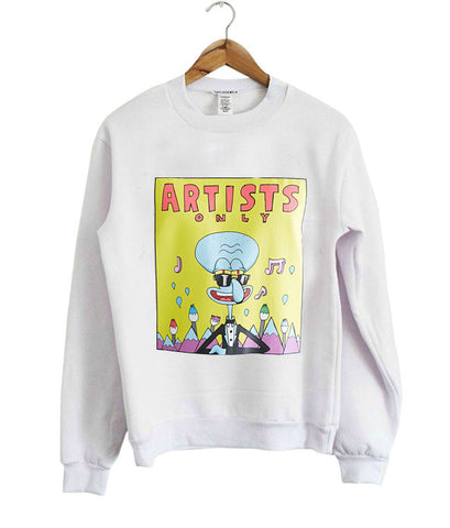 Artist Only Squidward sweatshirt