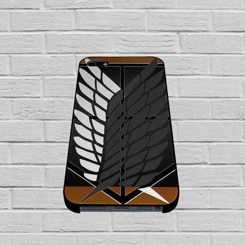 Attack On Titan Logo Carbon Custom case of iPhone case,Samsung Galaxy