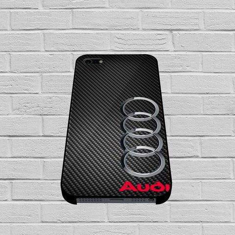 Audi Carbon Fiber Look case of iPhone case,Samsung Galaxy