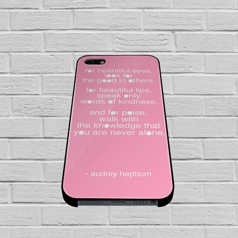 Audrey Hepburn Quote Pink Eye case of iPhone case,Samsung Galaxy