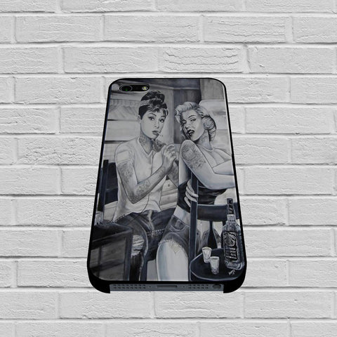 Audrey Hepburn and Marilyn Monroe case of iPhone case,Samsung Galaxy
