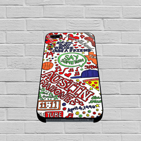 Austin Mahone Collage Art case of iPhone case,Samsung Galaxy