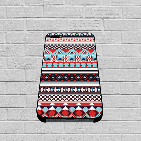 Aztec Tribal Geometric Pattern Blue case of iPhone case,Samsung Galaxy