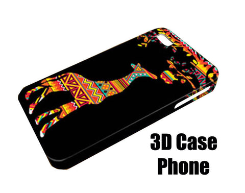 Aztec giraffe eat apple Design 3D Case Phone case iPhone case Samsung Galaxy Case