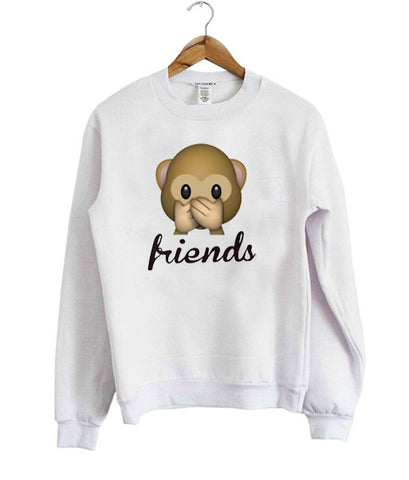 BFF Emoji Monkey Friends Sweatshirt